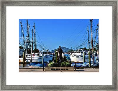 Tarpon Springs Waterfront Framed Print by Susanne Van Hulst