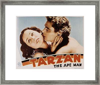Tarzan The Ape Man, Maureen Osullivan Framed Print by Everett