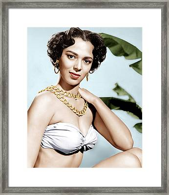Tarzans Peril, Dorothy Dandridge, 1951 Framed Print by Everett