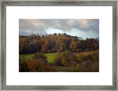 Taw Valley In Autumn Framed Print by Dr Keith Wheeler