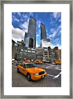 Taxi Framed Print by Mitch Cat