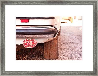 Taxi Framed Print by Tom Gowanlock