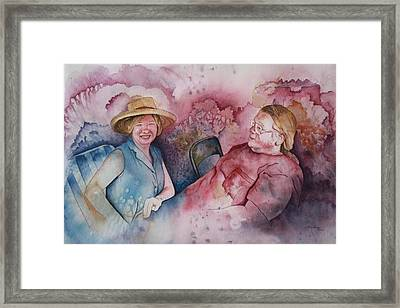 Taylor And Chuck At The Picnic Framed Print by Patsy Sharpe