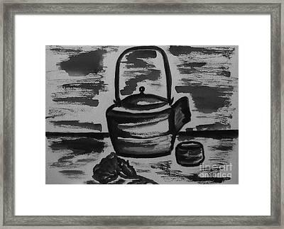 Tea For Me Framed Print by Marsha Heiken