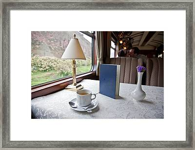 Tea Is Served By Peru Rail On The Way Framed Print by Michael &Amp Jennifer Lewis