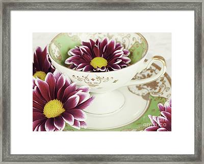 Tea Petals Framed Print by Kim Fearheiley