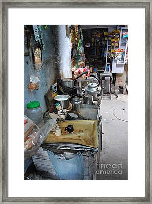 Tea Stall Framed Print by Jen Bodendorfer