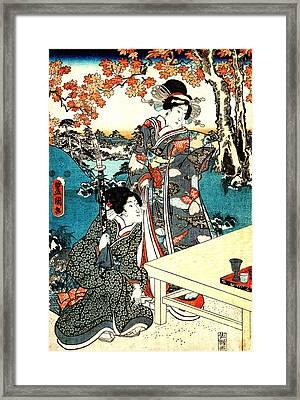 Tea Under The Maple Leaves 1851 Framed Print by Padre Art