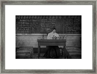 Teachers Rules  Framed Print by Jerry Cordeiro