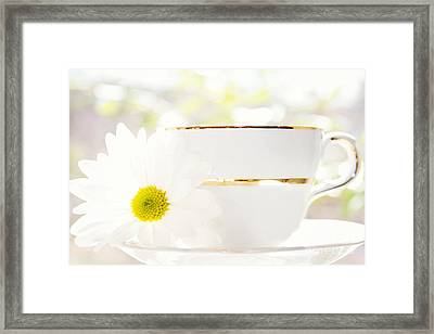 Teacup Filled With Sunshine Framed Print by Kim Fearheiley