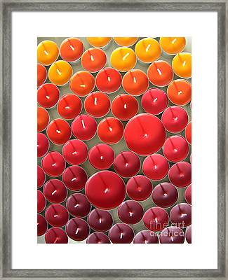 Tealights Framed Print by Karin Ubeleis-Jones