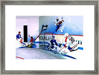 Team Sports Mural Framed Print by Hanne Lore Koehler