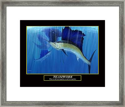 Teamwork Framed Print by Kevin Brant