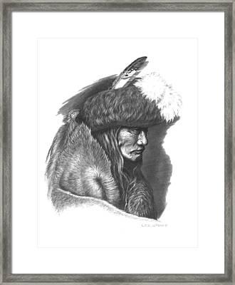 Tearing Robe Framed Print by Lee Updike