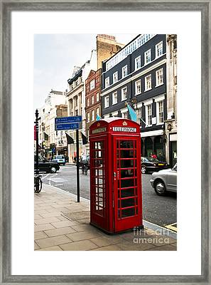 Telephone Box In London Framed Print by Elena Elisseeva