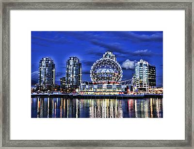 Telus Science Center Vancouver Bc Framed Print by Lawrence Christopher