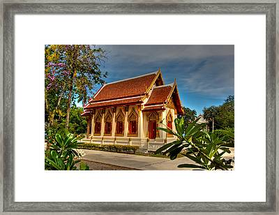 Temple Framed Print by Adrian Evans