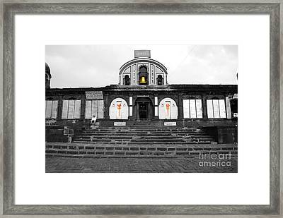 Temple At India Framed Print by Sumit Mehndiratta