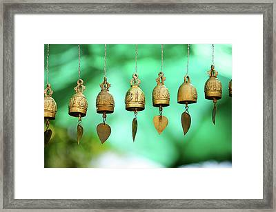 Temple Bell Framed Print by SkYGoN