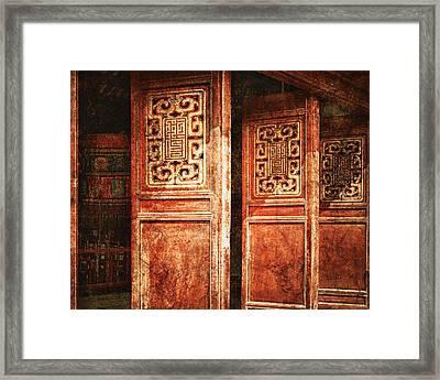 Temple Door Framed Print by Skip Nall