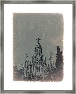 Temple Expiatory Framed Print by Naxart Studio