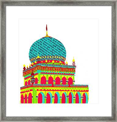 Temple From India Framed Print by Catarina Bessell