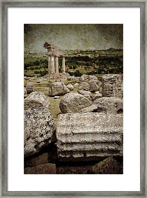 Temple Of Castor And Pollux Framed Print by RicardMN Photography