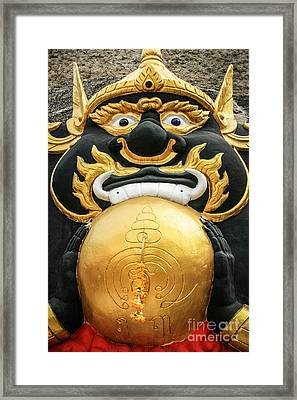 Temple Statue Framed Print by Adrian Evans