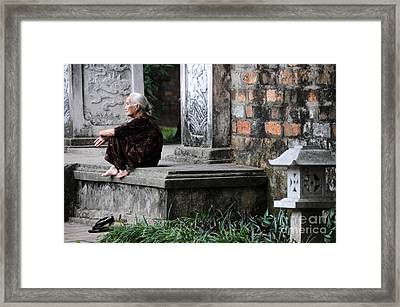 Temple Steps Framed Print by Marion Galt