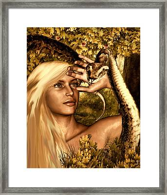 Temptation Framed Print by Lourry Legarde