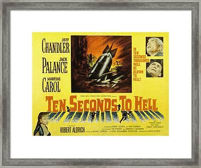 Ten Seconds To Hell, Jeff Chandler Framed Print by Everett