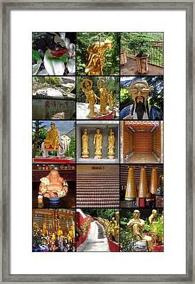 Hong Kong Framed Print featuring the photograph Ten Thousand Buddhas Monastery by Roberto Alamino