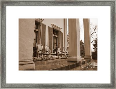 Tennessee Plantation Porch Framed Print by Carol Groenen