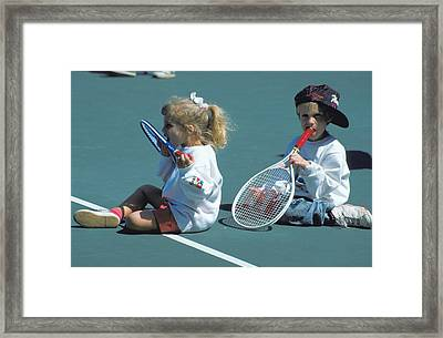 Tennis Tots At Wimbledon Framed Print by Carl Purcell