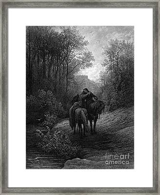 Tennyson: Guinevere Framed Print by Granger