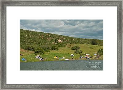 Tent Camping At Horsetooth Reservoir Framed Print by Harry Strharsky