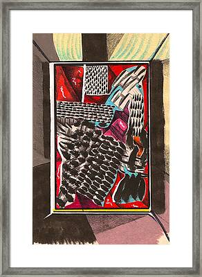 Tent Corner Occurrence  Framed Print by Al Goldfarb
