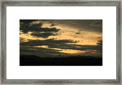 Terminous Framed Print by James Heckt