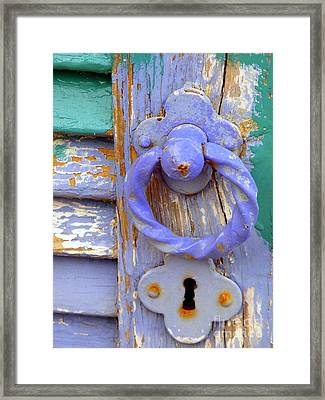 Terrace Door Framed Print by Lainie Wrightson