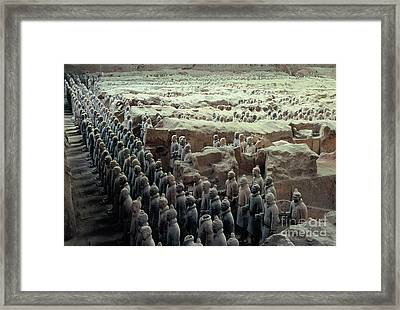 Terracotta Warriors Framed Print by Ronnie Glover