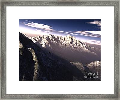 Terragen Render Of Kitt Peak, Arizona Framed Print by Rhys Taylor