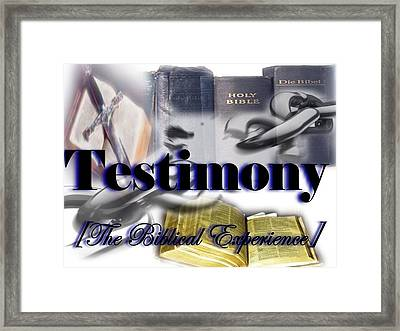 Testimony Framed Print by AKIMALYAH Publishing
