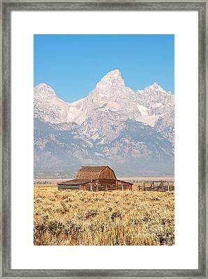 Teton Mormon Barn Framed Print by Bob and Nancy Kendrick