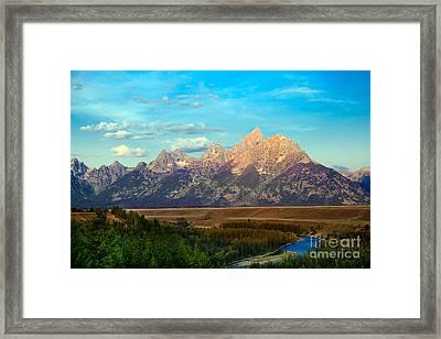 Teton Range At Sunrise Framed Print by Robert Bales
