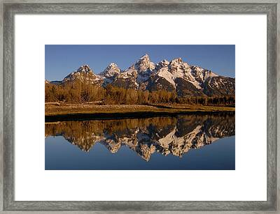 Teton Range, Grand Teton National Park Framed Print by Pete Oxford