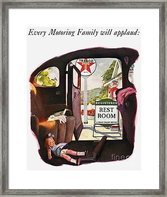 Texaco Advertisement, 1938 Framed Print by Granger
