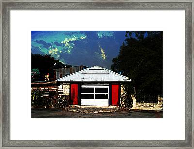 Texas Garage Framed Print by Kelly Rader