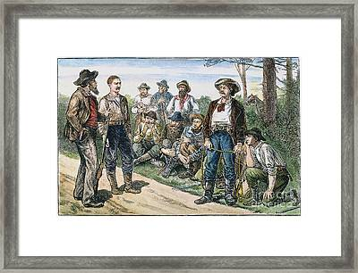 Texas Vigilantes, C1881 Framed Print by Granger