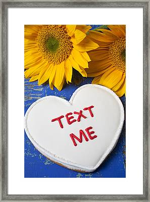 Text Me Framed Print by Garry Gay