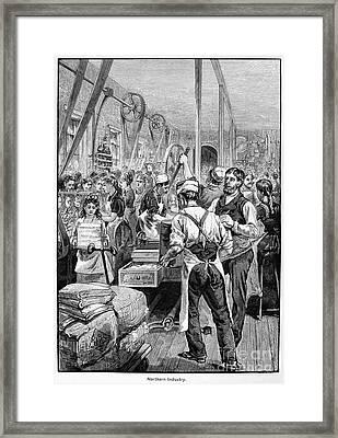 Textile Mill, 1881 Framed Print by Granger